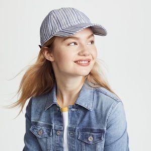 NWOTs MADEWELL • Striped Blue Baseball Cap Hat